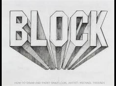 3d block letters how to draw block letters in 3d 20095 | hqdefault