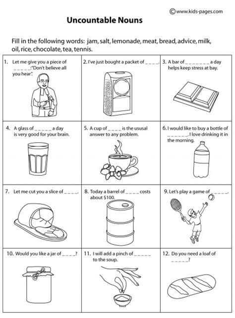 noun worksheets kindergarten the best worksheets image