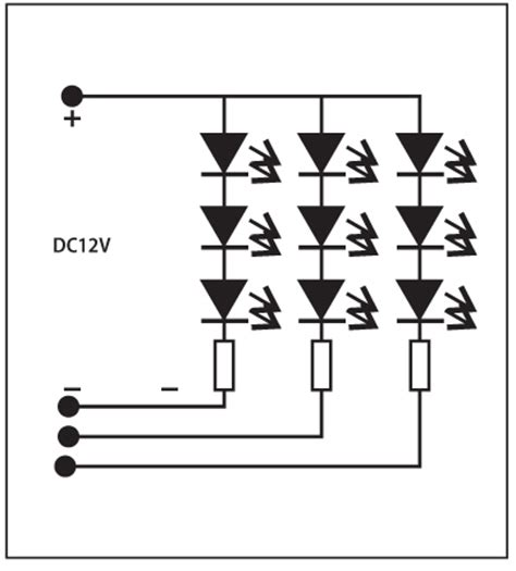 Led Circuit Diagram Letter by Rgb 1x3 Led Sign Module