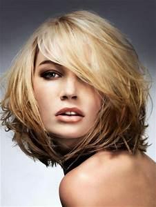 Coupe De Cheveux Pour Visage Long : coiffure cheveux mi long visage rond ~ Melissatoandfro.com Idées de Décoration