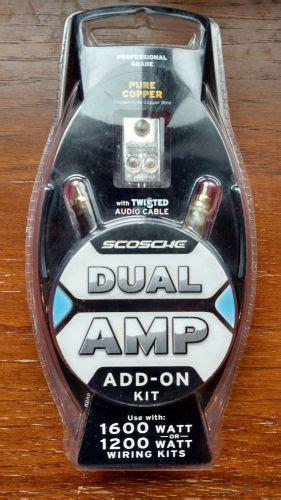 Find Watt Dual Amp Add Wiring Kit Scosche