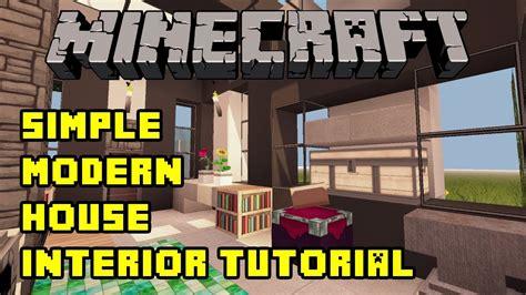minecraft simple modern house interior tutorial xboxpepc quick  easy youtube