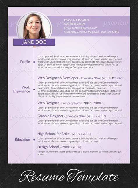 purple modern resume design resumes creative cv