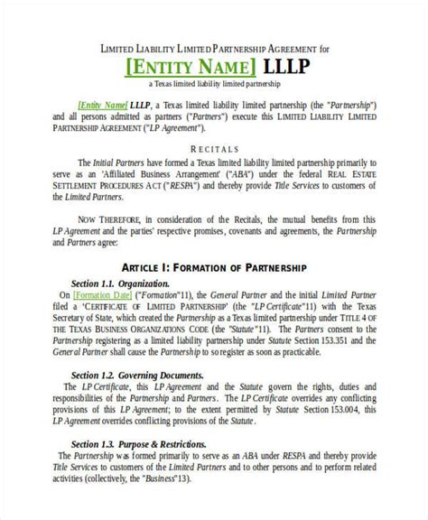 sample limited partnership agreement private equity lera