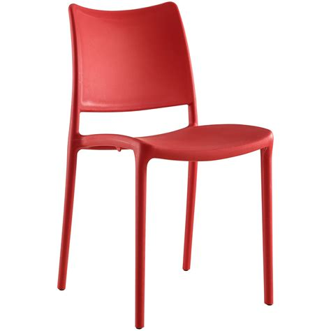 modern stackable plastic dining side chair new