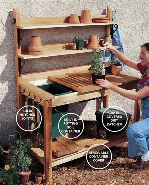 cedar potting bench plans woodwork city  woodworking