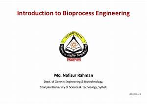 Introduction To Bioprocess Engineering