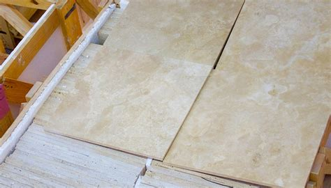 travertine tiles two side filling industry