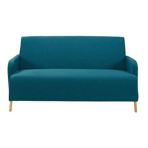 repeindre un canape en tissu canap 233 2 places en tissu bleu p 233 trole adam maisons du monde