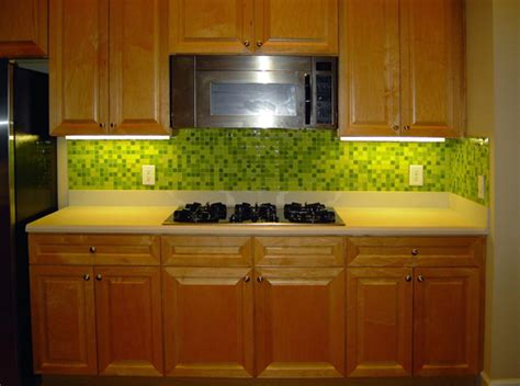 green glass tiles for kitchen backsplashes to your home