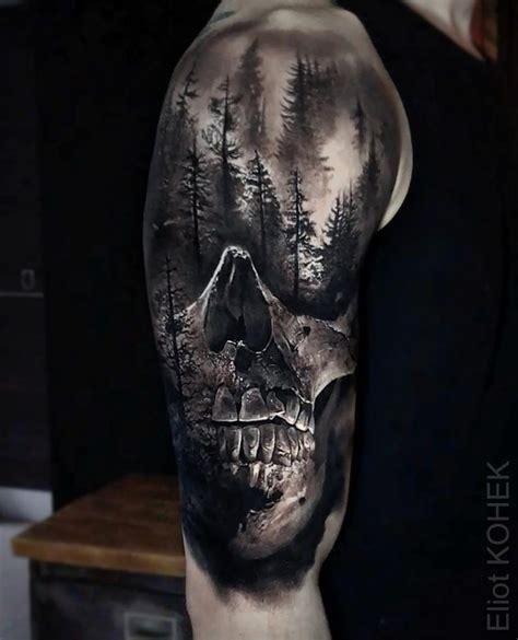 The Horrific Black Grey Tattoos Eliot Kohek