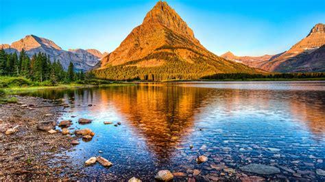 glacier national park montana mount grinnell desktop hd