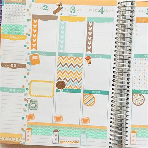 monthly planner sticker planner decoration ideas november 2015 erin condren