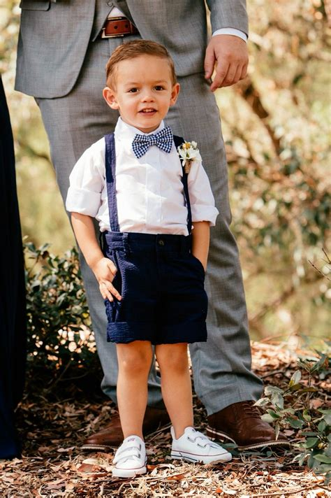 page boy navy blue suspenders adorable  perfect