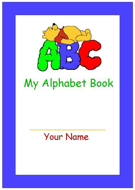 printable  alphabet book cover pre school ideas