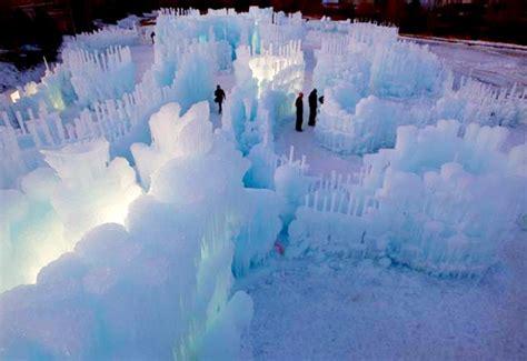 ephemeral ice sculptures   melt   spring