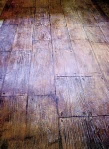Stamped Concrete Wood Floors