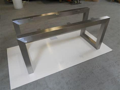 pied de table inox fabrication pour un particulier d un pied de table sur mesure en inox bross 233