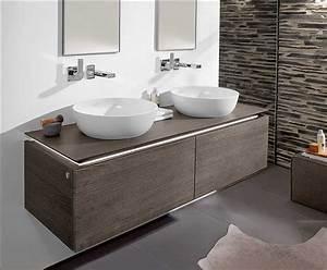 Waschtische Für Badezimmer : villeroy und boch doppelwaschbecken mit unterschrank und ~ Michelbontemps.com Haus und Dekorationen