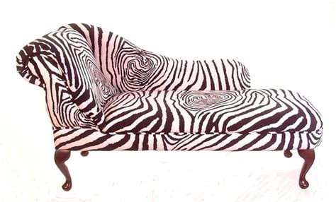 chaise zebre chaise longue in zebra print fabric the uk 39 s cheapest