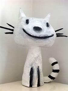 Sculpture En Papier Maché : chat en papier mach suite pictoblog ~ Melissatoandfro.com Idées de Décoration