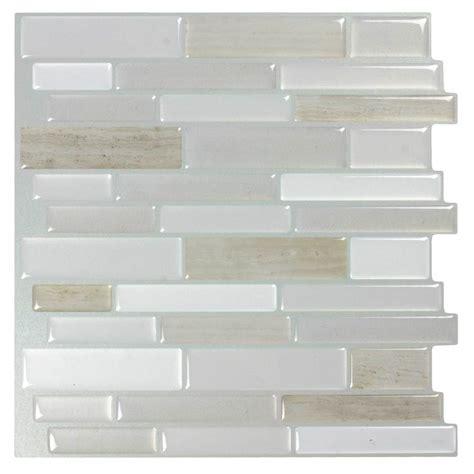 shop peel stick mosaics peel and stick light silk linear