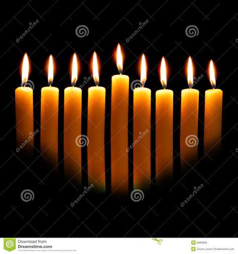 stock candele candele di hanukkah fotografia stock immagine di nero
