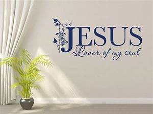 Christian wall decal jesus lover of my soul code