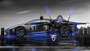 F35 vs Lamborghini Aventador Crystal City Car 2014 | el Tony