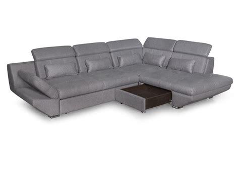canapé tiroir canapé convertible avec tiroir tissu gris foncé bali