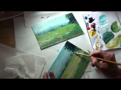 minuten malerei landschaft mit blumenwiese youtube