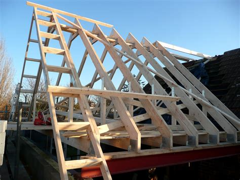 Mersea, Essex. 1st Fix. A Truss Roof With Gable Ladder. In