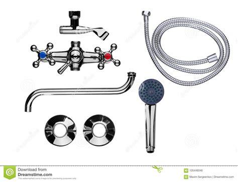parti rubinetto insieme rubinetto bagno delle parti illustrazione
