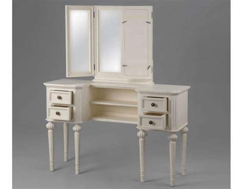 le de bureau en bois meuble blanc pour la chambre ou coiffeuse blanche ou