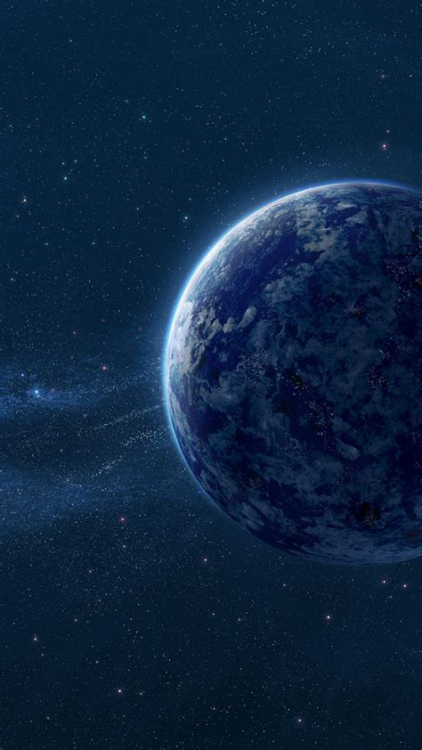 wallpaper blue planet space dust hd space