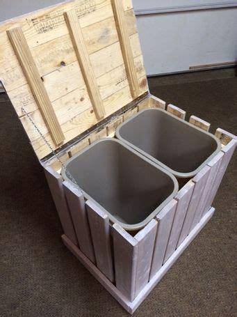ryobi nation rustic trash recycle bin   pallet