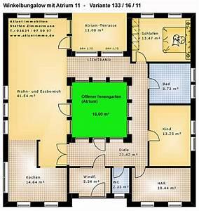 Atriumhaus Bauen Kosten : atrium 11 winkelbungalow 133 16 11 einfamilienhaus neubau ~ Lizthompson.info Haus und Dekorationen