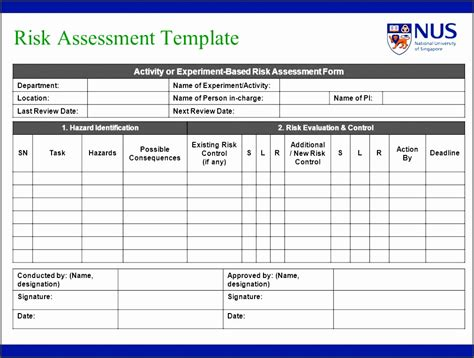 risk assessment template  sampletemplatess