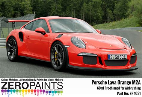 porsche red paint code porsche paint 60ml zp 1031 zero paints