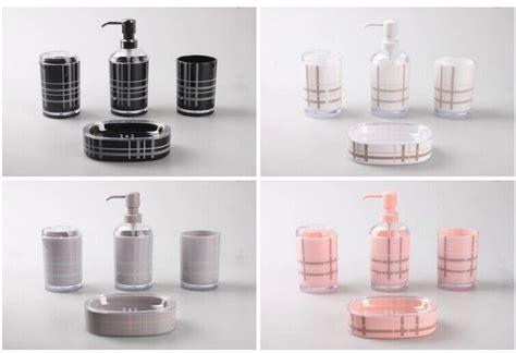 free shipping fashion bathroom set 4pieces black pink