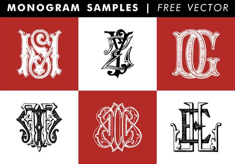 monogram samples  vector   vector art stock graphics images