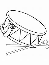 Drum Coloring Pages Drums Printable Drawing Clip Vector African Percussion Kit Clipart Mallet Marching Drumsticks Sheet Band Toy Drumming Illustrations sketch template