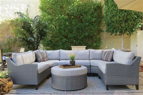 the dump houston outdoor furniture oahu outdoor sectional sofa with ottoman the dump
