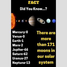 #fact  #didyouknow ? There Are More Than 171 Moons In Our