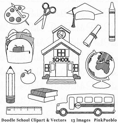 Clip Clipart Doodle Hand Drawn Classroom Teacher