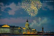 Fireworks St. Petersburg Russia