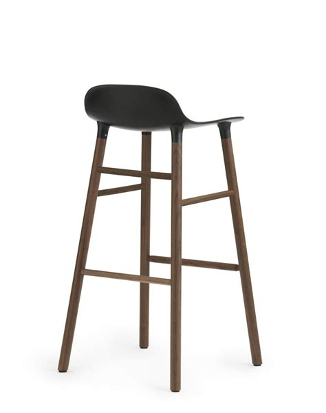 Norman Bar Stools by Form Bar Stool Black Oak 65cm Seat By Normann Copenhagen