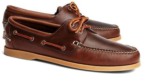 Brooks Brothers Boat Shoes by Dark Brown Leather Boat Shoes Brooks Brothers Leather