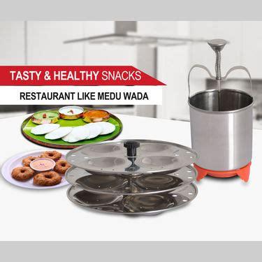 buy steel medu vada maker  idli rack    price  india  naaptolcom