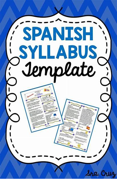 Spanish Syllabus Template Class Lesson Plans Lessons